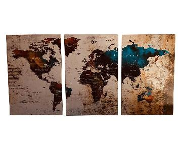 Three Piece Canvas World Art