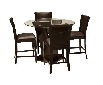 Raymour & Flanigan Venice 5-Piece Counter Height Dining Set