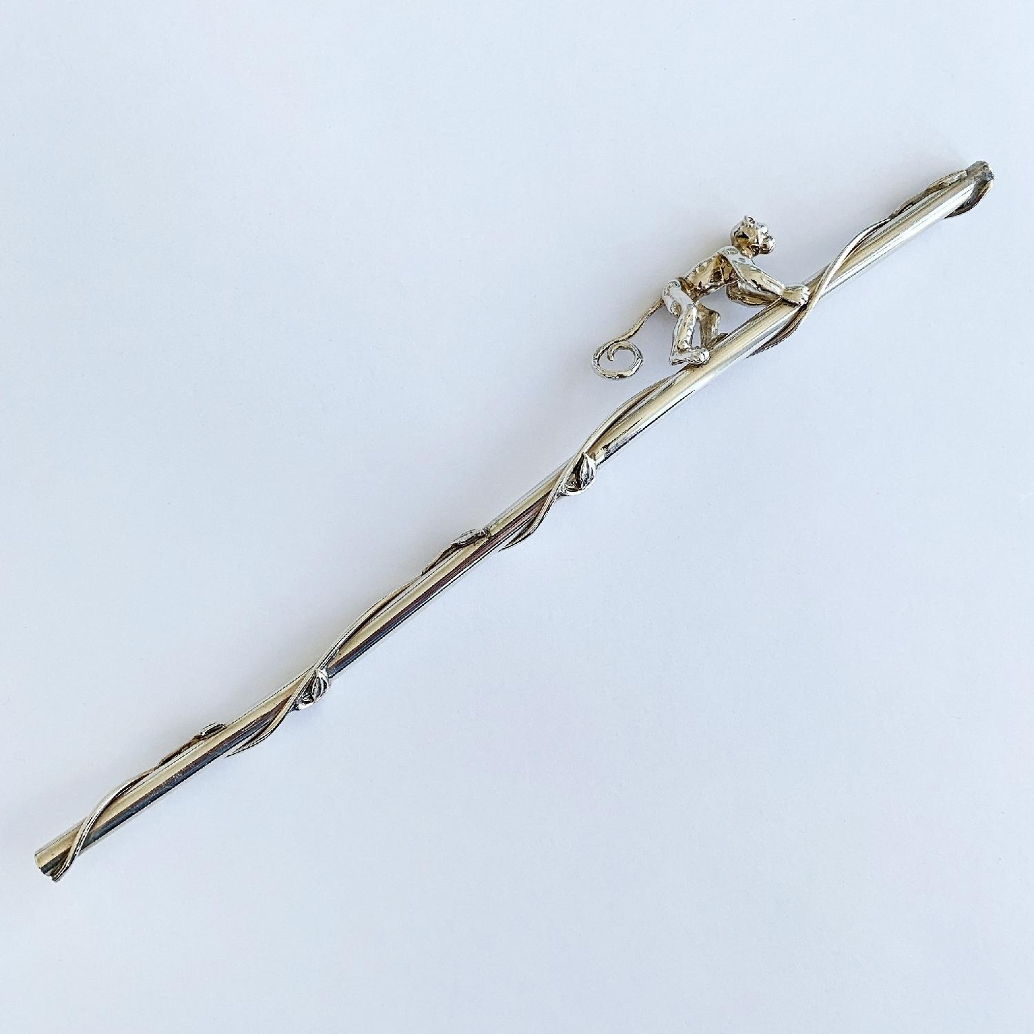 Tiffany & Co. Sterling Silver Monkey Straw-1