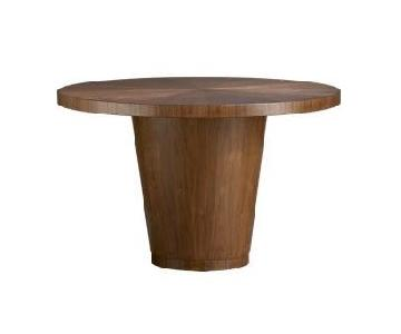 Crate & Barrel Wood Round Dining Table