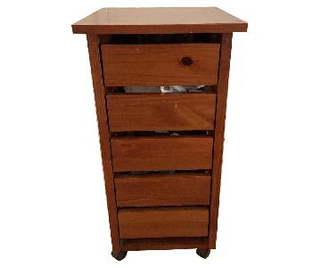 Wood 5-Drawer Chest
