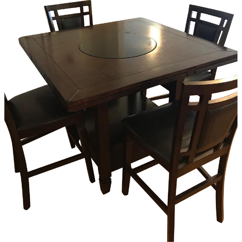 Raymour Flanigan Dining Table W Lazy Susan 4 Aptdeco