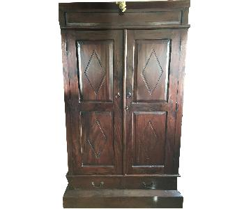 Rosewood Armoire/Storage Cabinet