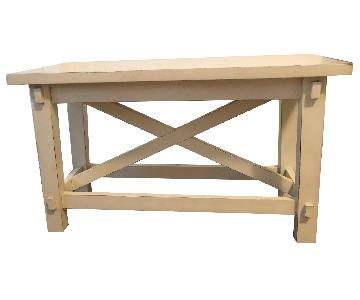 Pottery Barn Kids Natural White Bench