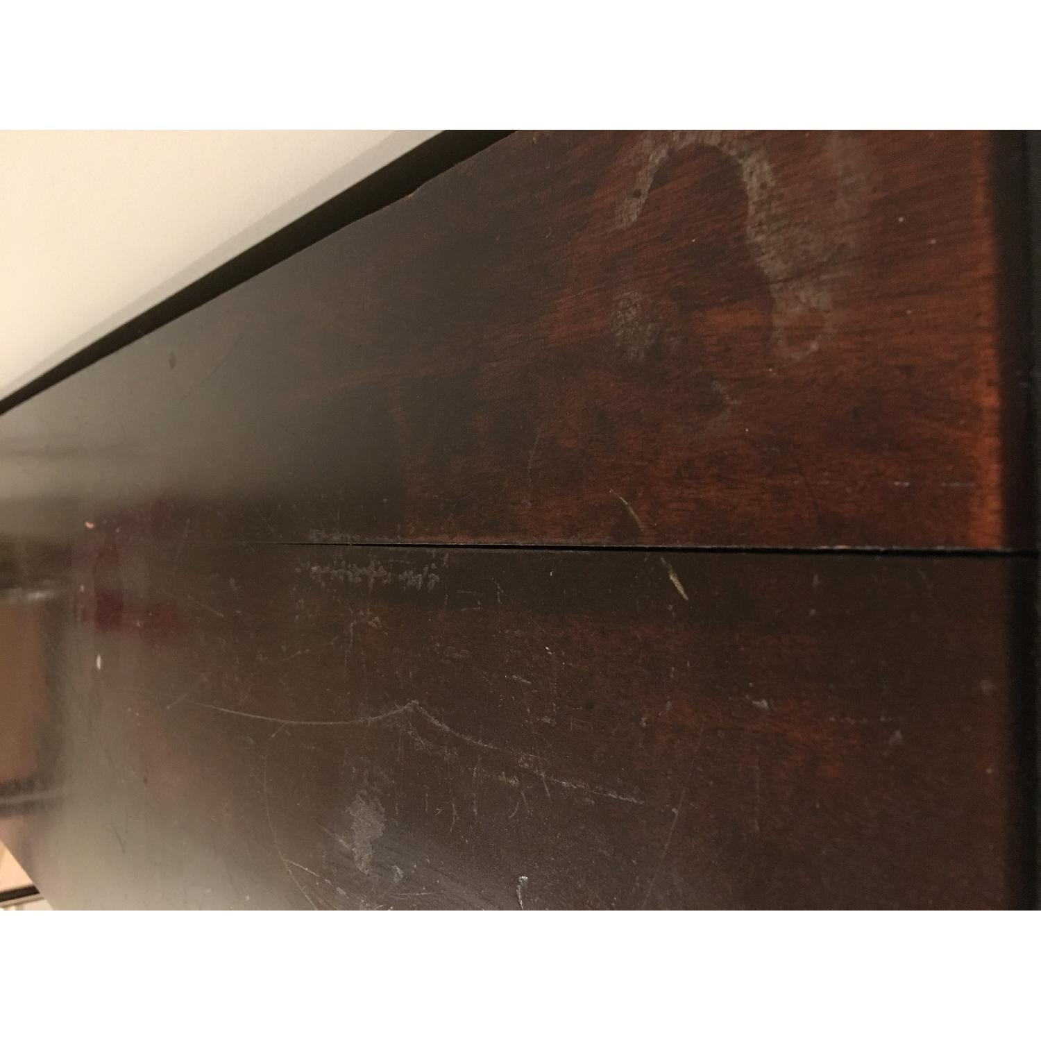 Antique Mahogany Glass-Front Bookcase/Cabinet-4