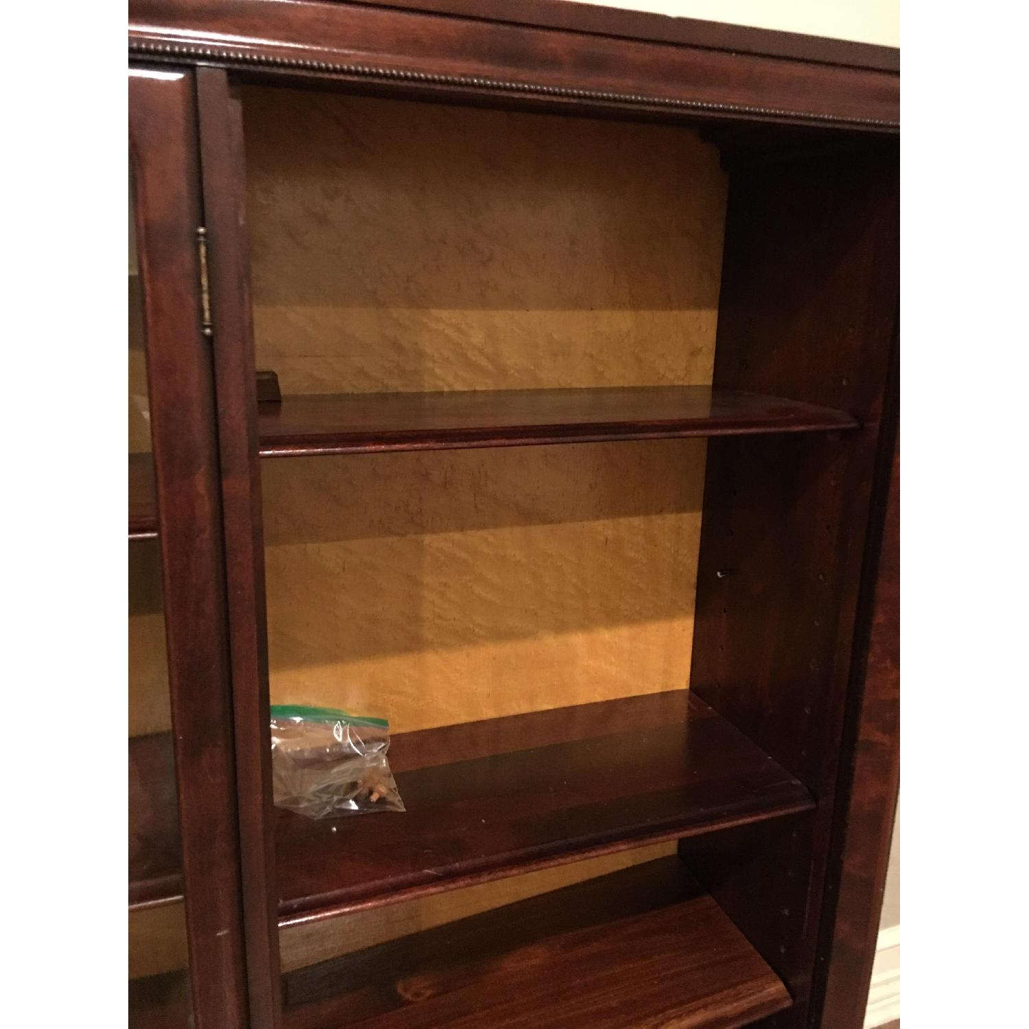 Antique Mahogany Glass-Front Bookcase/Cabinet-5