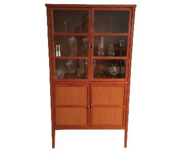 Modern Cherry China Cabinet