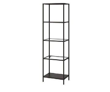 Ikea Vittsjo Glass & Metal Shelving Unit