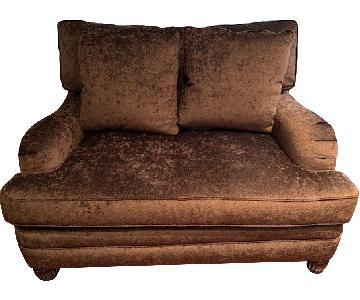Bernhardt Suede Chair and a Half