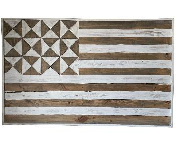 Pottery Barn Wooden Flag Wall Art