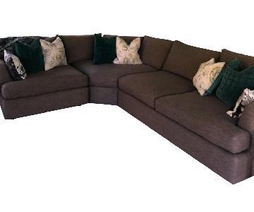 Arhaus Brown 3-Piece Sectional Sofa