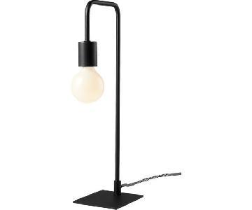 CB2 Black Steel Arc Table Lamps