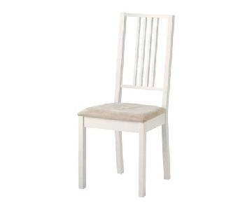 Ikea White Wooden Dining Chairs