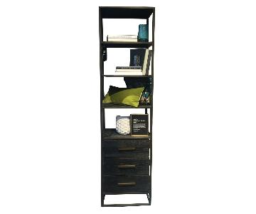 West Elm Black Wood Bookshelf