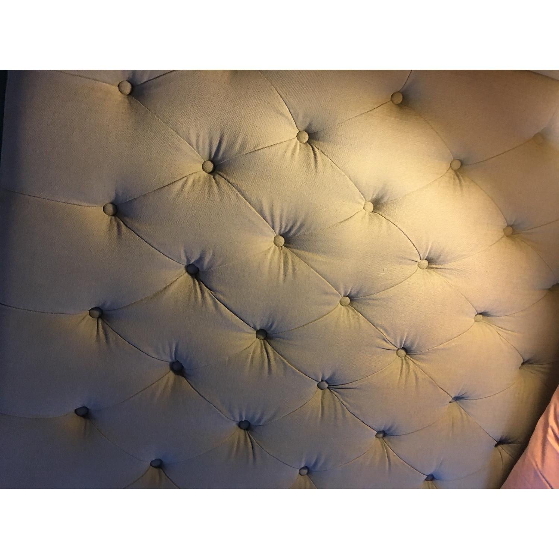 Restoration Hardware Adler Tufted Fabric King Bed-5