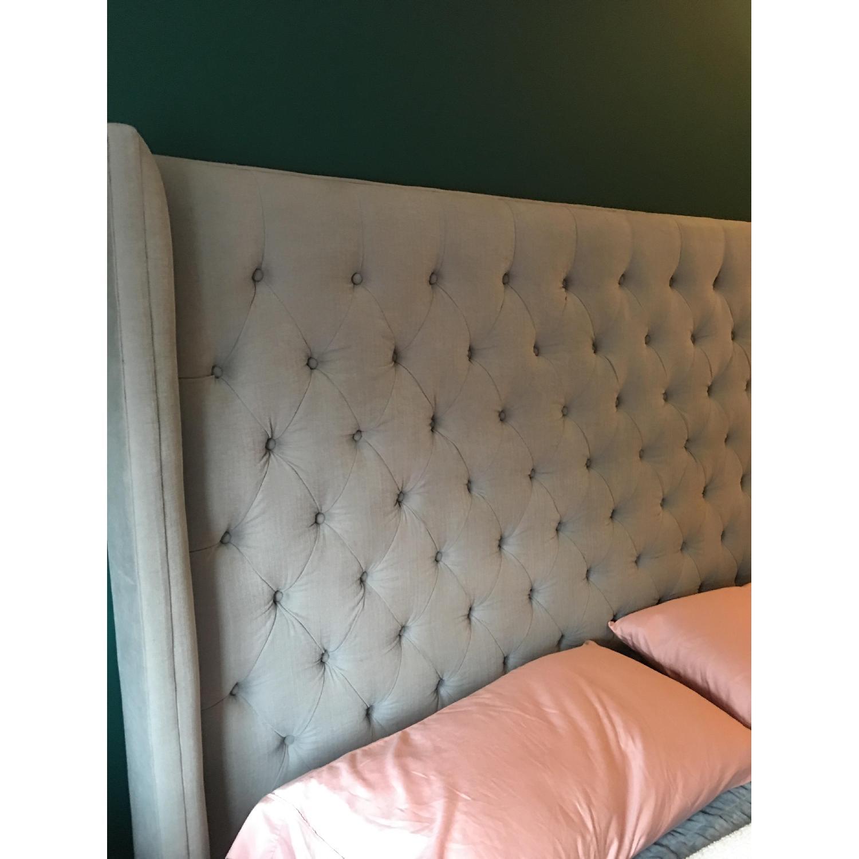 Restoration Hardware Adler Tufted Fabric King Bed-7