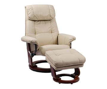 Benchmaster Ventura Leather Recliner & Ottoman