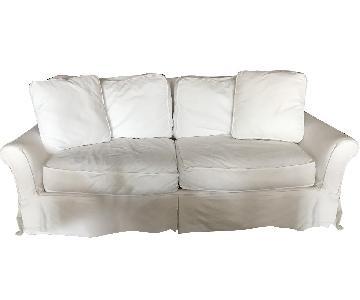 Crate & Barrel Slipcovered Queen Sleeper Sofa