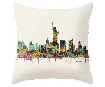 Society 6 New York City Skyline Throw Pillows