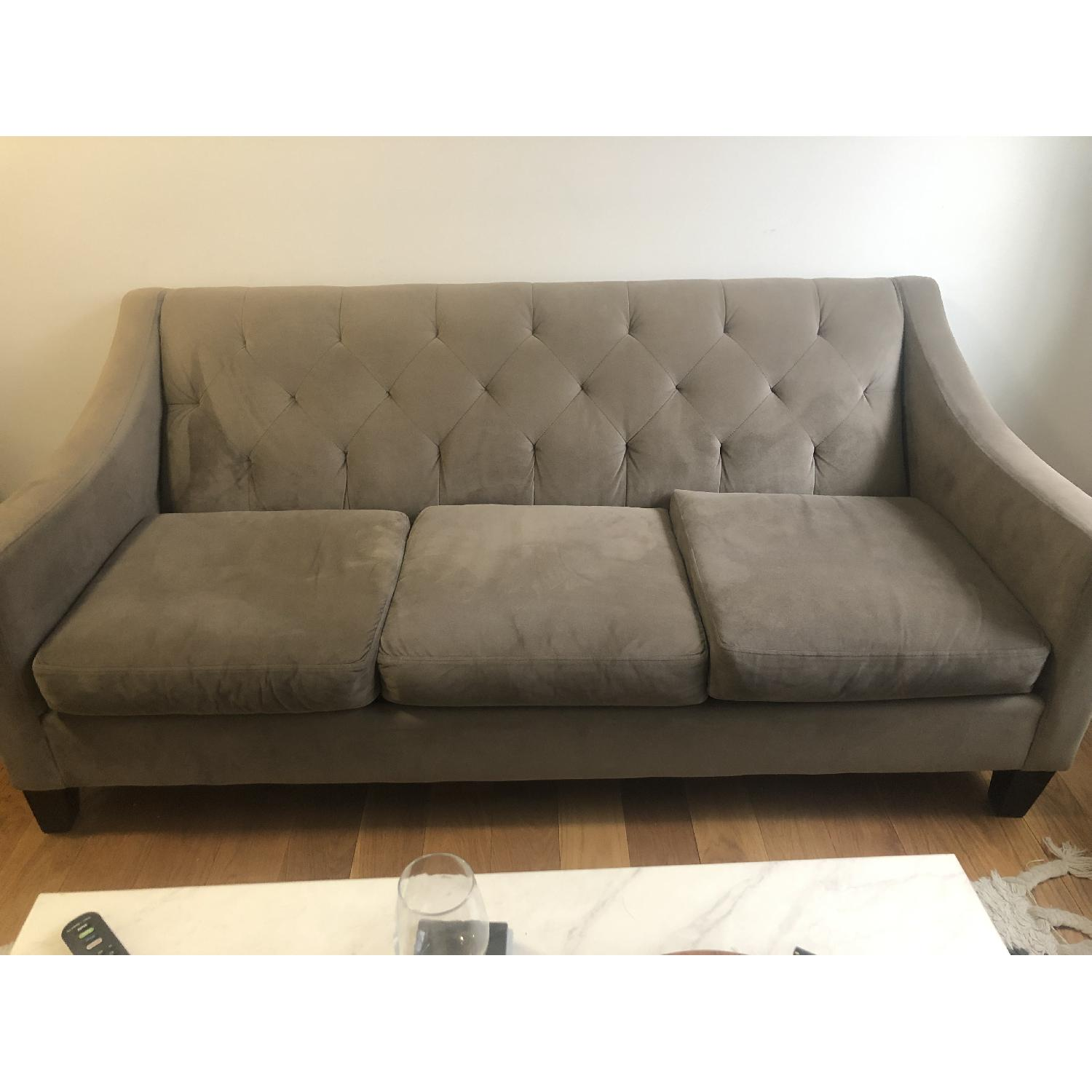 Macy's Chloe Grey Tufted Sofa-2