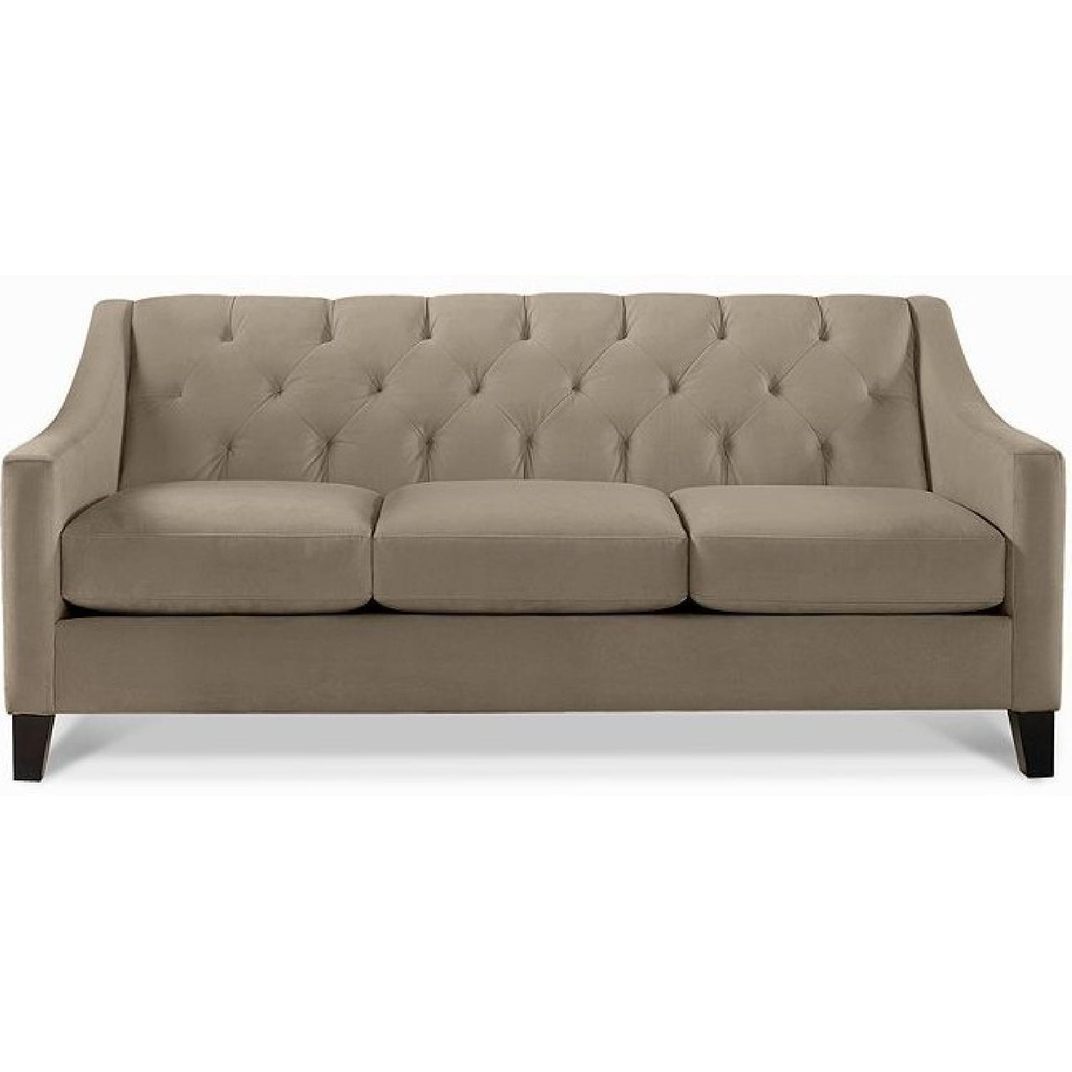 Macy's Chloe Grey Tufted Sofa