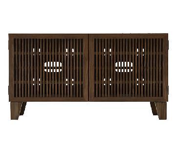 Crate & Barrel Marin Shiitake Media Console