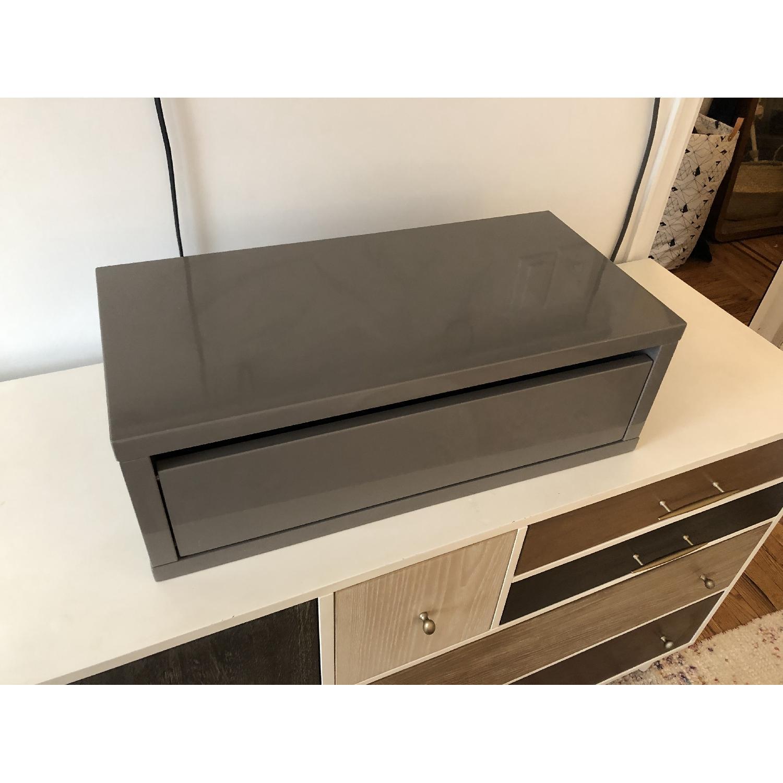 CB2 Slice Grey Wall Mounted Storage Shelf-0