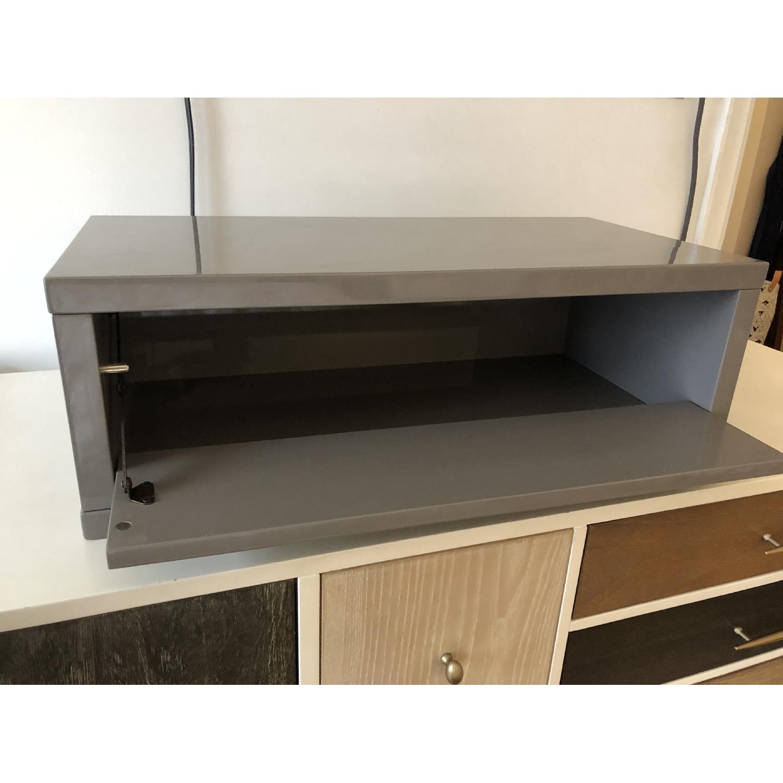 CB2 Slice Grey Wall Mounted Storage Shelf-1