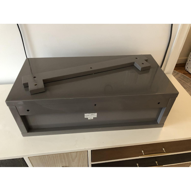 CB2 Slice Grey Wall Mounted Storage Shelf-2