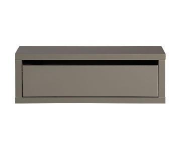 CB2 Slice Grey Wall Mounted Storage Shelf