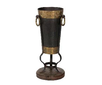 Antique Brass & Iron Umbrella Stand