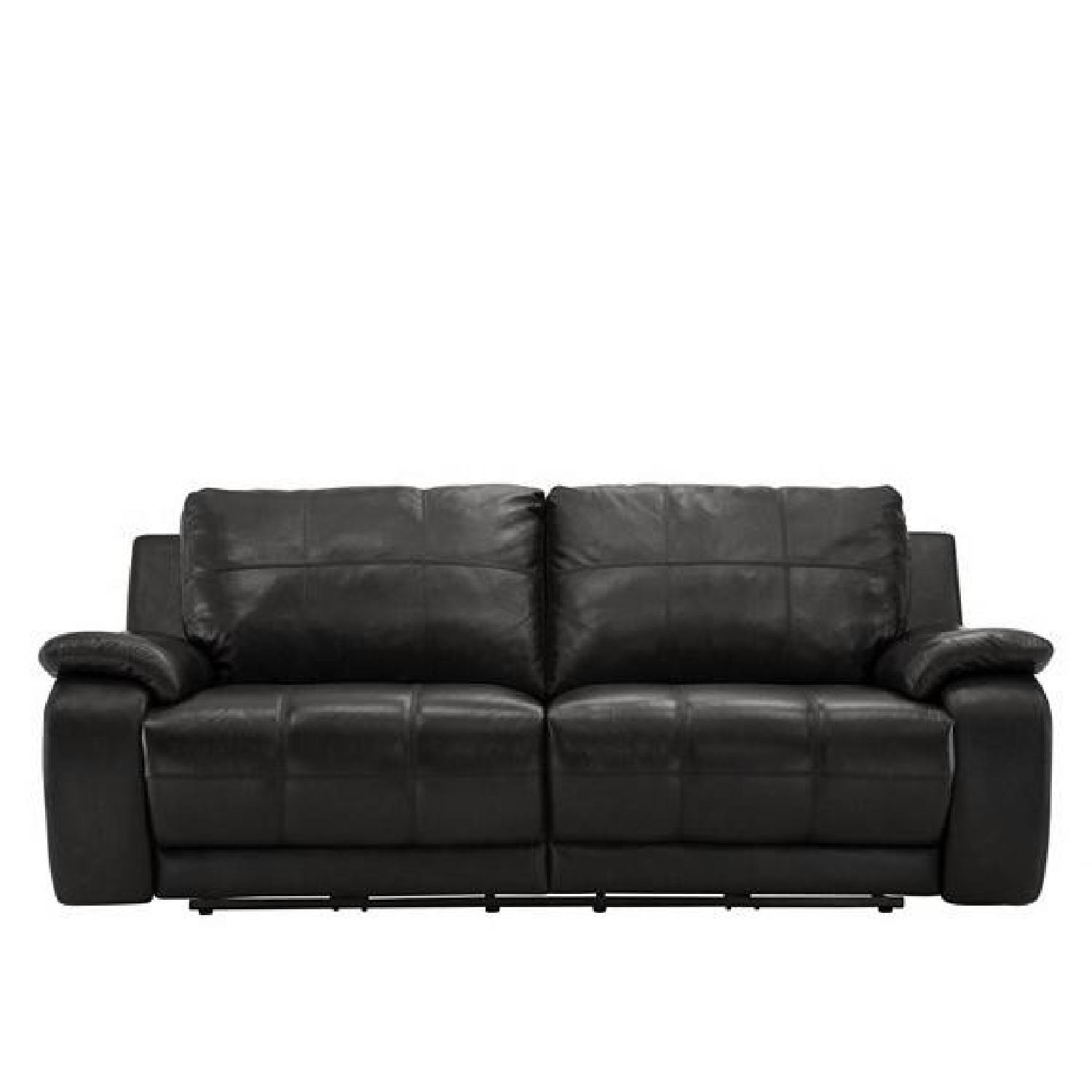Raymour & Flanigan Power Leather Reclining Sofa - image-0
