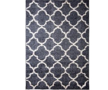 Nicole Miller Area Rug in Blue & White