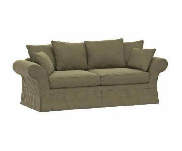 Pottery Barn Charleston Slipcovered Sofa + Chair & Ottoman