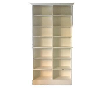 Solid Wood Custom Built In Looking Shelves