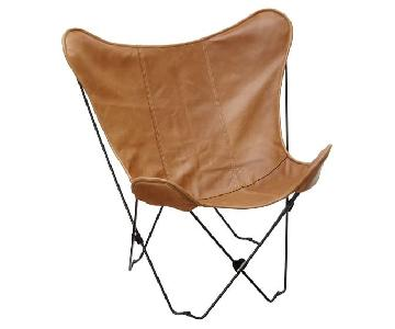 Pottery Barn Teen Leather Butterfly Chairs