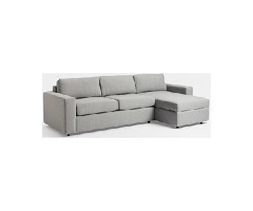 West Elm Urban 2-Piece Sectional Sofa w/ Right Arm Chaise