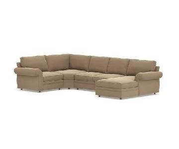 Pottery Barn Pearce 4 Piece Sectional Sofa w/ Right Chaise