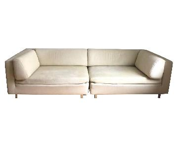 Porada Italian 2-Piece Mid Century Modern Sofa
