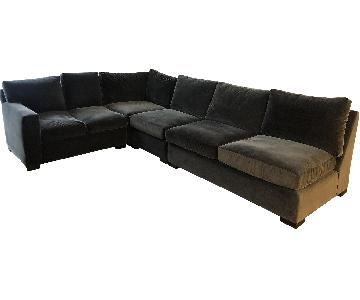 Crate & Barrel Axis 4 Piece Sectional Sofa