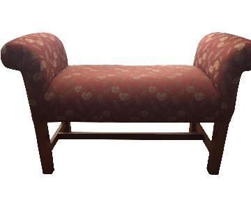 Ethan Allen Loren Upholstered Bench