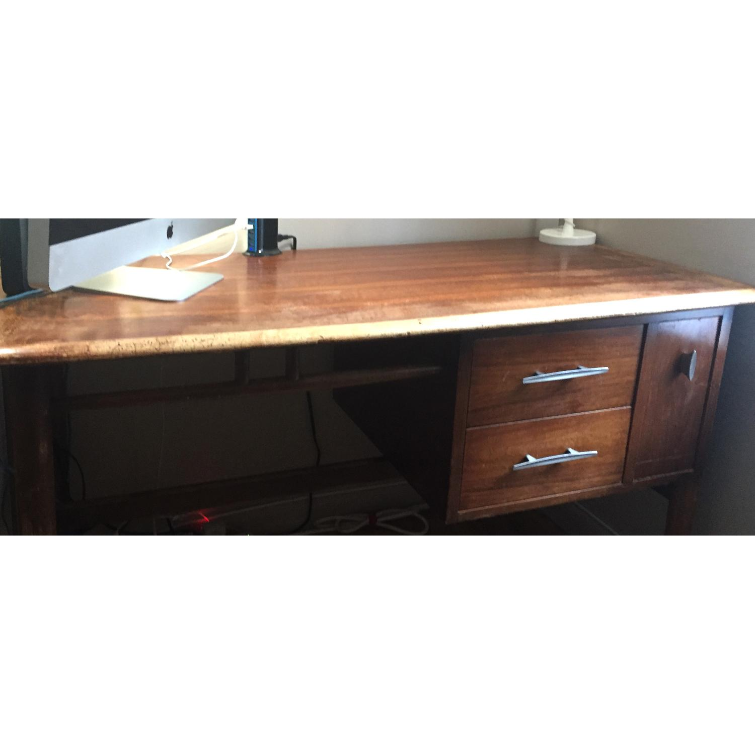 Danish Mid Century Teak Writing Table-3