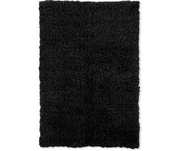 Flokati Black Shag Area Rug