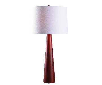 Kenroy Home Spar Table Lamp in Red Oak