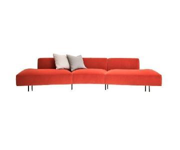 Keilhauer Orange Meander Sectional Sofa