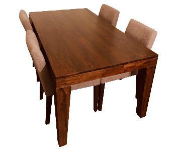 West Elm Carroll Farm Dining Table w/ 4 chairs