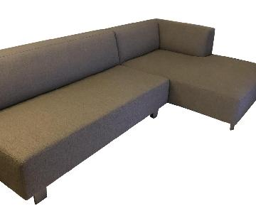 Room & Board Chelsea Sectional Sofa w/ Right Chaise