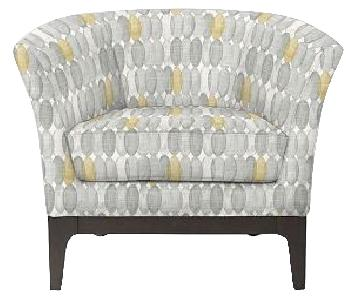 West Elm Tulip Chair in Painted Oval Fabric