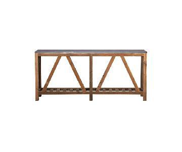 Crate & Barrel Bluestone Console Table