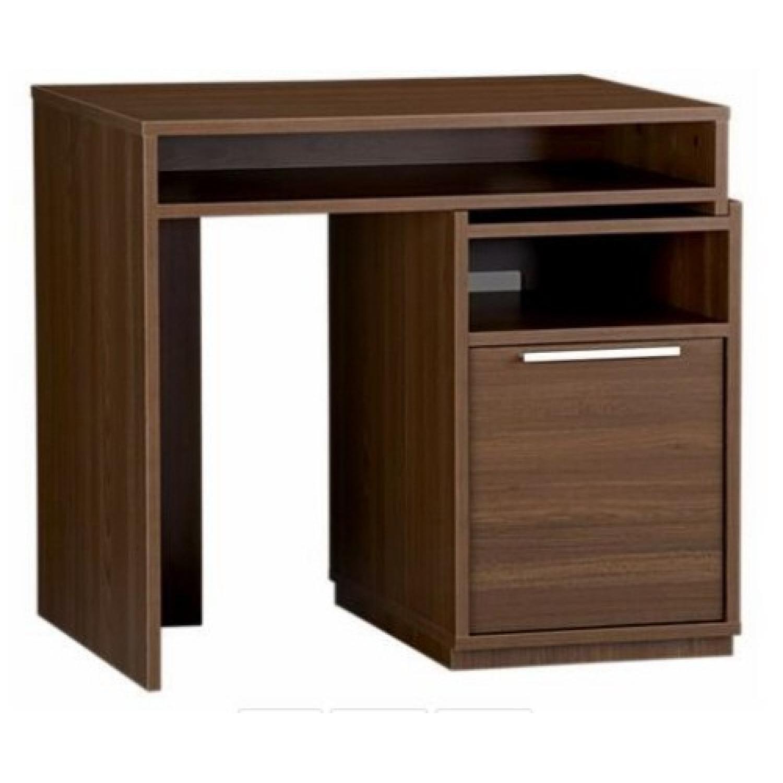 Crate & Barrel Puzzle Desk in Walnut